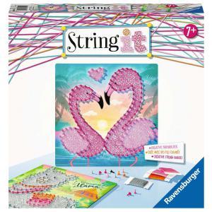 Ravensburger - 18120 - String it midi: Lama & Flamingo (461398)