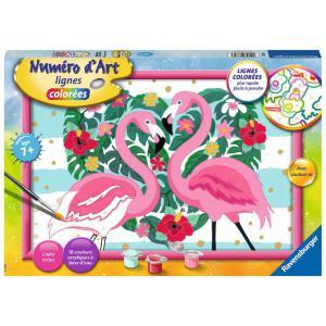 Ravensburger - 28770 - Numéro d'art - grand - Flamingos amoureux (461502)