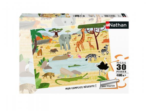 Puzzle 30 pièces - les animaux de la savane