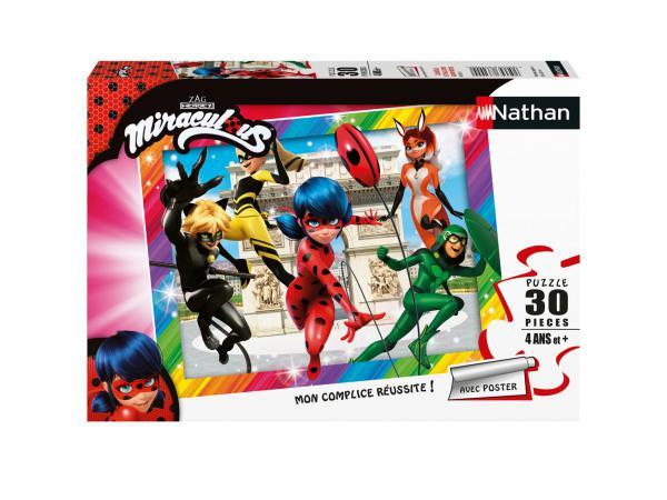 Puzzle 30 pièces - ladybug et ses amis super-héros / miraculous