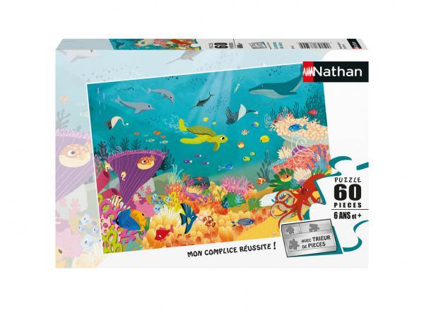 Puzzle 60 pièces - les animaux des océans