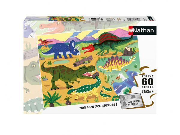Puzzle 60 pièces - les dinosaures du crétacé