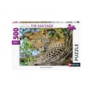 Nathan puzzles - 87131 - Puzzle N 500 pièces - Les yeux du léopard (461672)