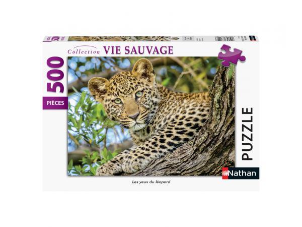Puzzle n 500 pièces - les yeux du léopard