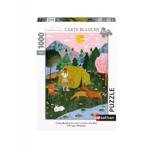 Nathan puzzles - 87644 - Puzzle N 1000 pièces - Let's go camping / Arual (Collection Carte blanche) (461682)