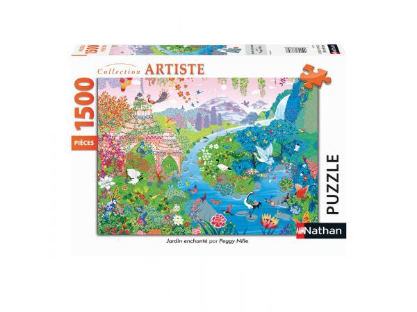 Puzzle n 1500 pièces - jardin enchanté / peggy nille