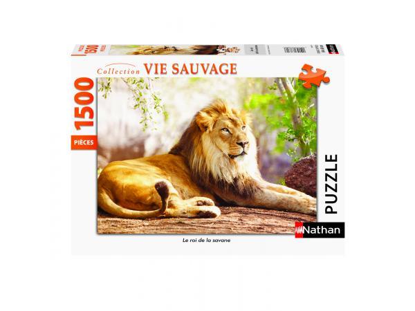 Puzzle n 1500 pièces - le roi de la savane