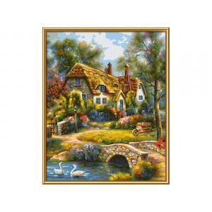 Schipper - 609240831 - Peinture aux numeros - Old English Cottage 24x30cm (461824)
