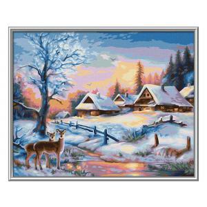 Schipper - 609240833 - Peinture aux numeros - Winterlandschaft 24x30cm (461826)