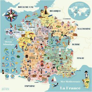 Vilac - 7611 - Carte de France magnétique Ingela P.A (461870)