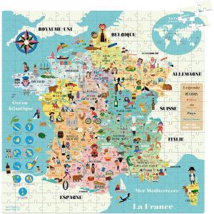 Vilac - 7618 - Carte de France puzzle 300 Pcs Ingela P.A (461880)