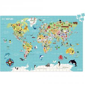 Vilac - 7619 - Carte du Monde puzzle 500 Pcs Ingela P.A (461882)