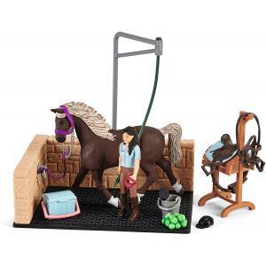 Schleich - 42438 - Box de lavage pour chevaux avec Horse Club Emily & Luna (462060)