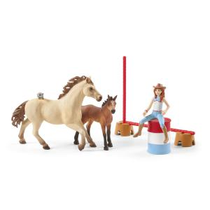 Schleich - 72157 - Horse stall with Arab horses and groom (462190)