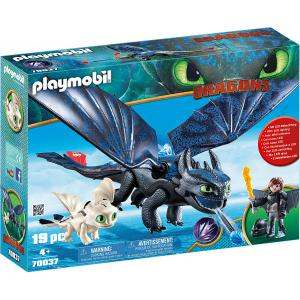 Playmobil - 70037 - Krokmou et Harold avec bébé dragon (462406)