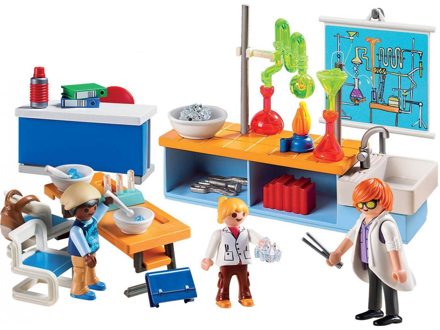 Playmobil   Classe de Physique Chimie