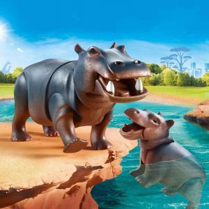 Playmobil - 70354 - Hippopotame et son petit (462796)