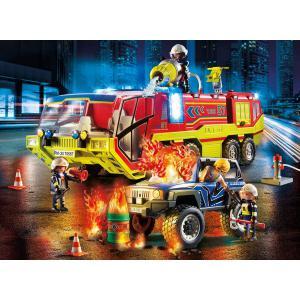 Playmobil - 70557 - Camion de pompiers et véhicule enflammé (462960)