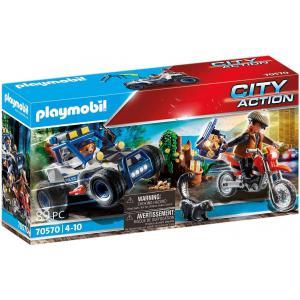 Playmobil - 70570 - Policier avec voiturette et voleur moto (462984)