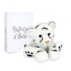 Histoire d'ours - HO3053 - Bébé Tigre Blanc - 18 cm  en boîte carton (463224)