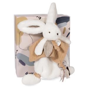 Doudou et compagnie - DC3740 - HAPPY WILD - Doudou pompon naturel 25 cm en boîte carton (463280)