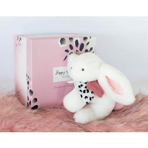 Doudou et compagnie - DC3739 - HAPPY BLUSH - Pantin pompon rose 25 cm en boîte carton (463290)