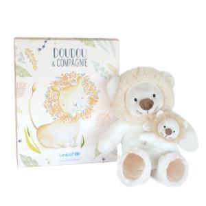 Doudou et compagnie - DC3792 - UNICEF BEBE & MOI - Lion 25 cm en boîte carton (463330)