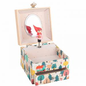 Trousselier - S20595 - Boite à Musique Cube Petit Chaperon Rouge (463512)