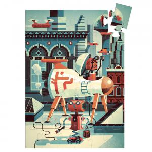 Djeco - DJ07239 - Puzzles silhouettes Bob le robot - 36 pcs (463954)