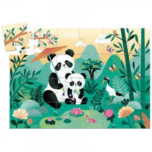 Djeco - DJ07282 - Puzzles silhouettes Léo le Panda - 24 pcs (463956)