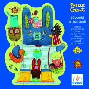 Djeco - 07131 - Puzzle géant 24 pièces Joséphine et ses amis (46490)