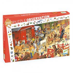 Djeco - DJ07454 - Puzzles observation -  Equitation - 200 pièces (46491)