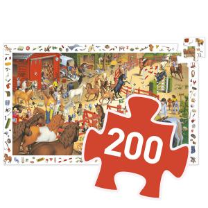 Djeco - DJ07454 - Puzzle observation Equitation - 200 pièces (46491)