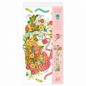 Djeco - DD04041 - Stickers toise  Jeune fille au jardin (464182)