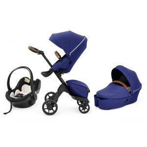 Stokke - BU406 - Pack poussette trio Xplory X nacelle Royal blue et coque Izi go modular X1 noir (464224)