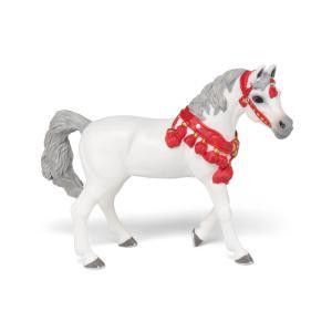 Papo - 51568 - Cheval Arabe blanc en tenue de parade  - Dim. 15 cm x 5 cm x 11 cm (464582)