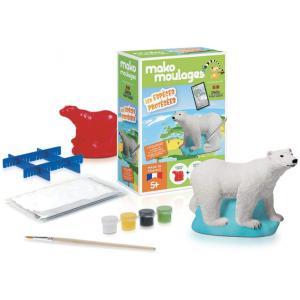 Mako moulages - 39062 - Moulage Espèces protégées  Ours polaire Boite unitaire (464850)