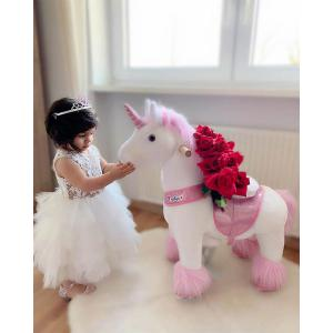 Ponycycle - Ux302 - Ponycycle Licorne à monter petit modèle sonore avec frein 69x33x79 cm - Age 3-5 ans (464862)