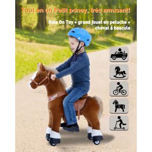 Ponycycle - Ux424 - Ponycycle Cheval à monter grand modèle sonore avec frein 84x40x97 cm - Age 4-9 ans (464868)