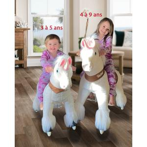 Ponycycle - Ux404 - Ponycycle Licorne à monter grand modèle sonore avec frein 84x40x97 cm - Age 4-9 ans (464872)
