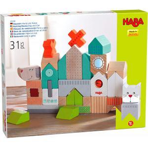 Haba - 306086 - Blocs de construction Chien et chat (465190)