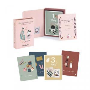 Moulin Roty - 715601 - Cartes Mes 12 premiers mois Après la pluie (30 cartes) (465372)