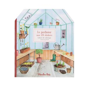 Moulin Roty - 712604 - Cahier stickers Le jardinier Le Jardin du Moulin - 20 pages (emb/6) (465646)