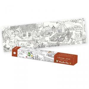 Moulin Roty - 712607 - Coloriage géant Le jardinier Le Jardin du Moulin (465648)