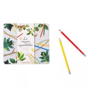 Moulin Roty - 712602 - Boîte 24 crayons aquarellables Le jardin du Moulin (465652)