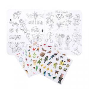 Moulin Roty - 712606 - Cahier stickers Le botaniste Le Jardin du Moulin - 20 pages (emb/6) (465654)