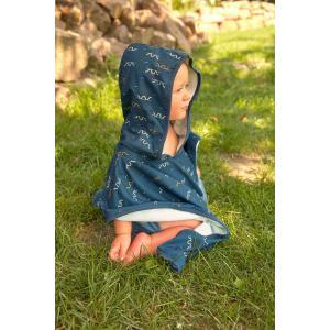 Lassig - 1433004492 - Poncho de plage garçon serpent de mer bleu 12-36 mois (465898)