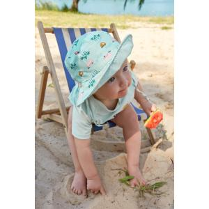 Lassig - 1433005557-12 - Chapeau anti-UV réversible caravane menthe 6-18 mois (465910)