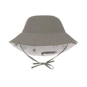 Lassig - 1433005132-18 - Chapeau anti-UV réversible crocodile blanc 18-36 mois (465918)