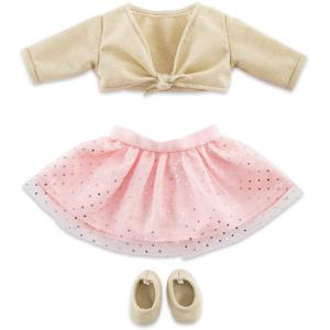 Corolle - 9000211850 - Vêtement pour poupées Ma Corolle ensemble cours de danse rose & or - taille 36 CM (466524)
